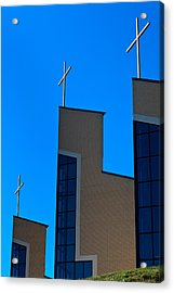 Acrylic Print featuring the photograph Crosses Of Livingway Church by Ed Gleichman