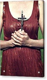 Crucifix Acrylic Print by Joana Kruse