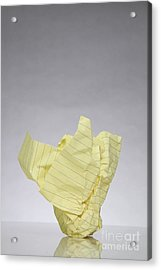 Crumpled Paper Acrylic Print by Photo Researchers, Inc.