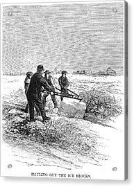 Cutting Ice, C1870 Acrylic Print by Granger