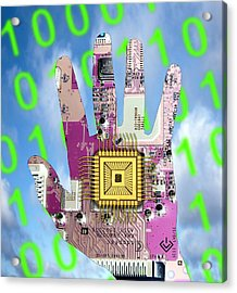 Cybernetics And Robotics Acrylic Print by Victor De Schwanberg