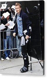 David Beckham, Visits Good Morning Acrylic Print