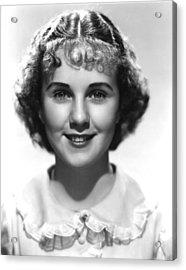 Deanna Durbin, 1936 Acrylic Print by Everett