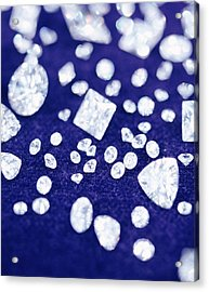 Diamonds Acrylic Print by Lawrence Lawry