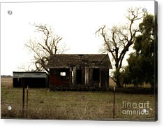 Dilapidated Old Farm House . 7d10341 Acrylic Print by Wingsdomain Art and Photography
