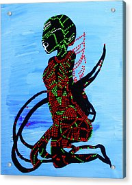 Dinka Bride - South Sudan Acrylic Print by Gloria Ssali