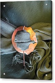 2 Dragon Penannular Brooch Acrylic Print by Ingrid Frances Stark