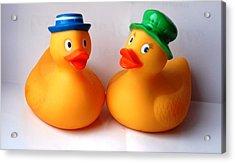 2 Ducks Acrylic Print by Juan  Cruz