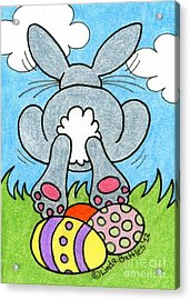 Easter Bunny Retreat Acrylic Print by Linda Battles