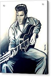 Elvis Acrylic Print by Jose Roldan Rendon
