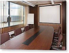 Empty Conference Room Acrylic Print by Jaak Nilson