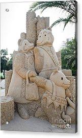 Fairytale Sand Sculpture  Acrylic Print by Sv