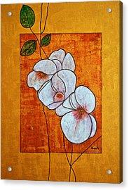 Flower-art Acrylic Print by Renate Dartois