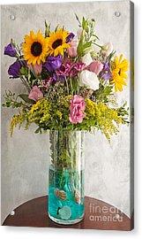 Flowers Acrylic Print by Hulya Ozkok