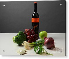 Foods Rich In Quercetin Acrylic Print by Photo Researchers, Inc.