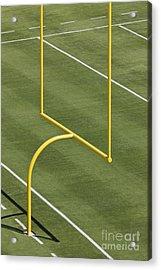 Football Goal Post Acrylic Print by Jeremy Woodhouse