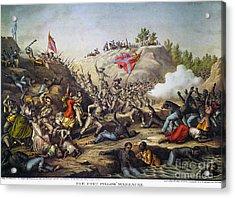 Fort Pillow Massacre, 1864 Acrylic Print by Granger
