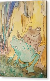 2 Frogs Acrylic Print by James Christiansen
