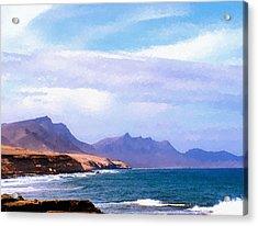 Fuerteventura Acrylic Print by Design Windmill