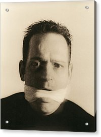 Gagged Man Acrylic Print by Cristina Pedrazzini