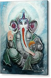 Ganesh  Acrylic Print by Sabrina Phillips