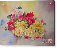 Acrylic Print featuring the painting Garden's Delight by Beatrice Cloake