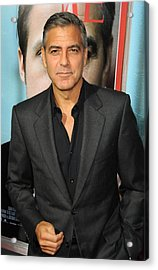 George Clooney At Arrivals For The Ides Acrylic Print by Everett