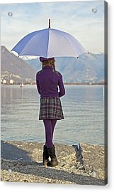 Girl With Umbrella Acrylic Print by Joana Kruse