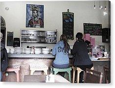 2 Girls At The Bakery Bar Acrylic Print by Kym Backland