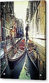 Gondolas Acrylic Print by Joana Kruse