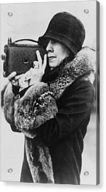 Grace Coolidge 1879-1957, First Lady Acrylic Print by Everett