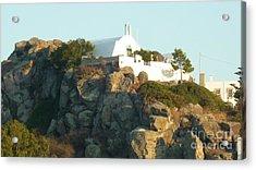 Greek Church Acrylic Print by Therese Alcorn
