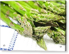 Green Asparagus Acrylic Print by Blink Images