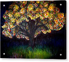 Acrylic Print featuring the painting Gumball Tree 0001 by Monica Furlow