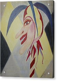 Harlequin Jester Acrylic Print by Marian Hebert