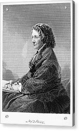 Harriet Beecher Stowe Acrylic Print by Granger
