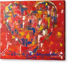 Acrylic Print featuring the painting Heart by Judy Morris
