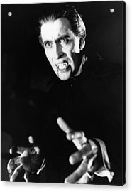 Horror Of Dracula, Christopher Lee, 1958 Acrylic Print by Everett