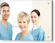 Hospital Staff Acrylic Print by
