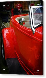 Hot Rod Red Ford Acrylic Print by SM Shahrokni