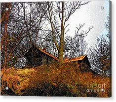House On The Hill Acrylic Print by Joyce Kimble Smith