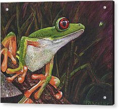 Acrylic Print featuring the painting I See You by Pauline  Kretler