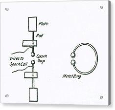 Illustration Of Hertzs Oscillator Acrylic Print by Science Source