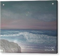 Acrylic Print featuring the painting In The Mood by Holly Martinson