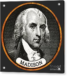 James Madison, 4th American President Acrylic Print by Photo Researchers