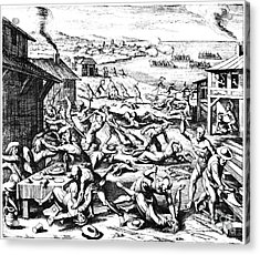 Jamestown: Massacre, 1622 Acrylic Print by Granger