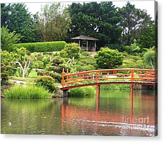 Japanese Gardens Acrylic Print by Therese Alcorn