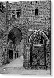 Jerusalem Old Street Acrylic Print by Marwan Hasna - Art Beat
