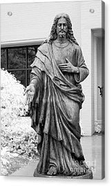 Jesus - Christian Art - Religious Statue Of Jesus Acrylic Print by Kathy Fornal
