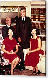 John F. Kennedy, Jacqueline Kennedy Acrylic Print by Everett